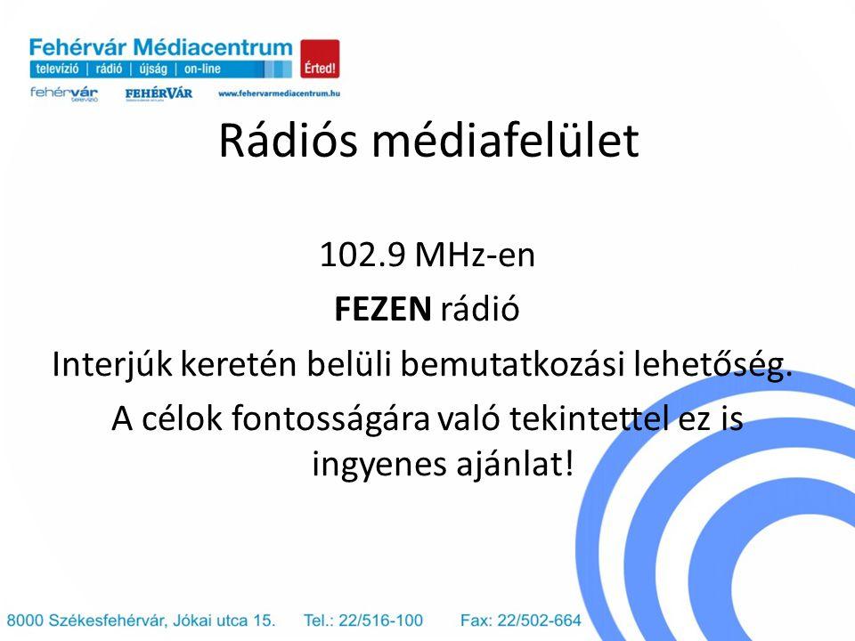 Rádiós médiafelület