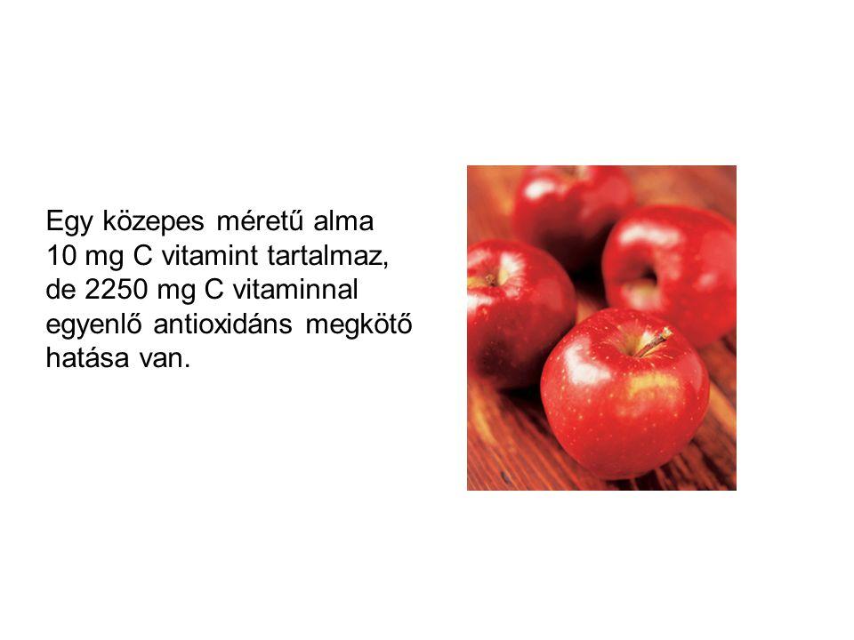Egy közepes méretű alma