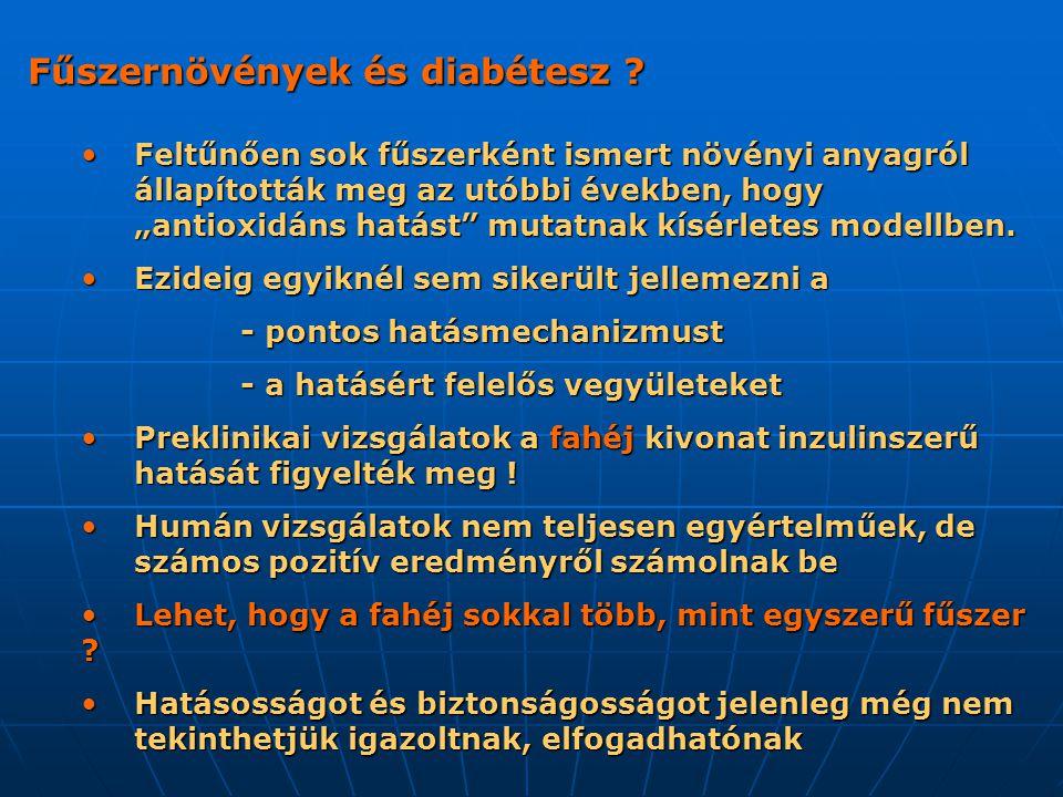 Fűszernövények és diabétesz