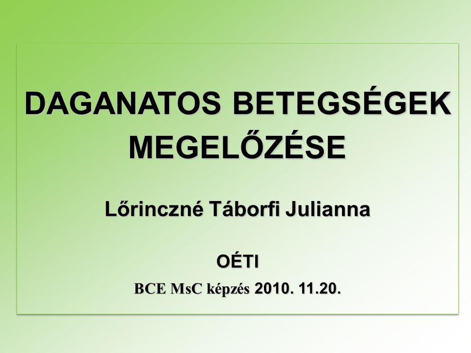 MEGELŐZÉSE Lőrinczné Táborfi Julianna