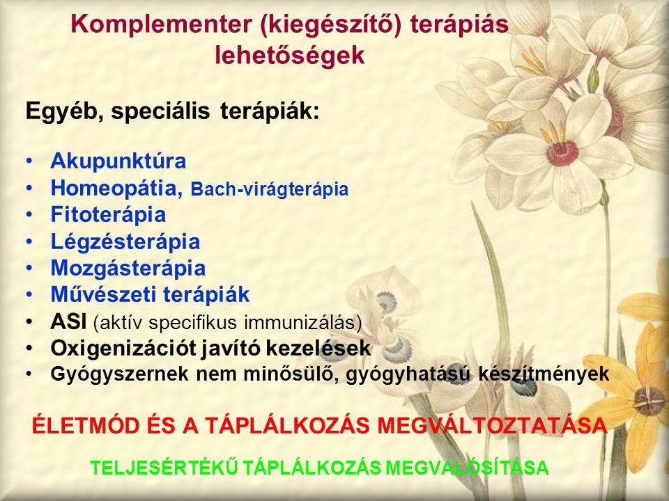 Komplementer (kiegészítő) terápiás lehetőségek