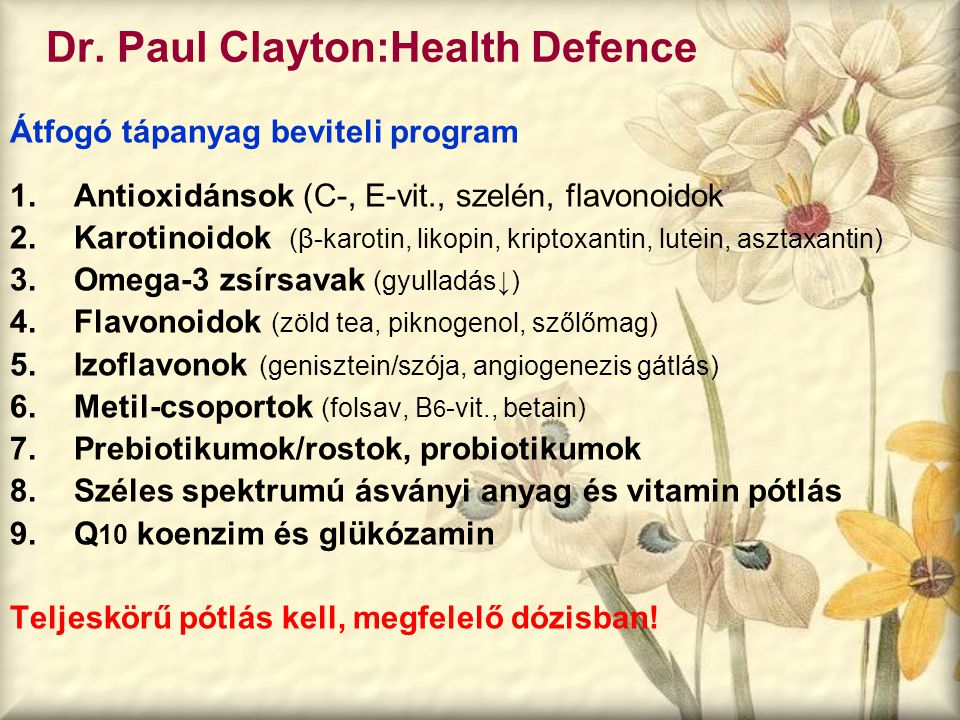 Dr. Paul Clayton:Health Defence