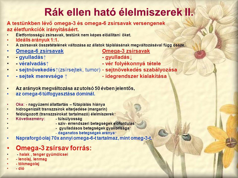 Rák ellen ható élelmiszerek II.