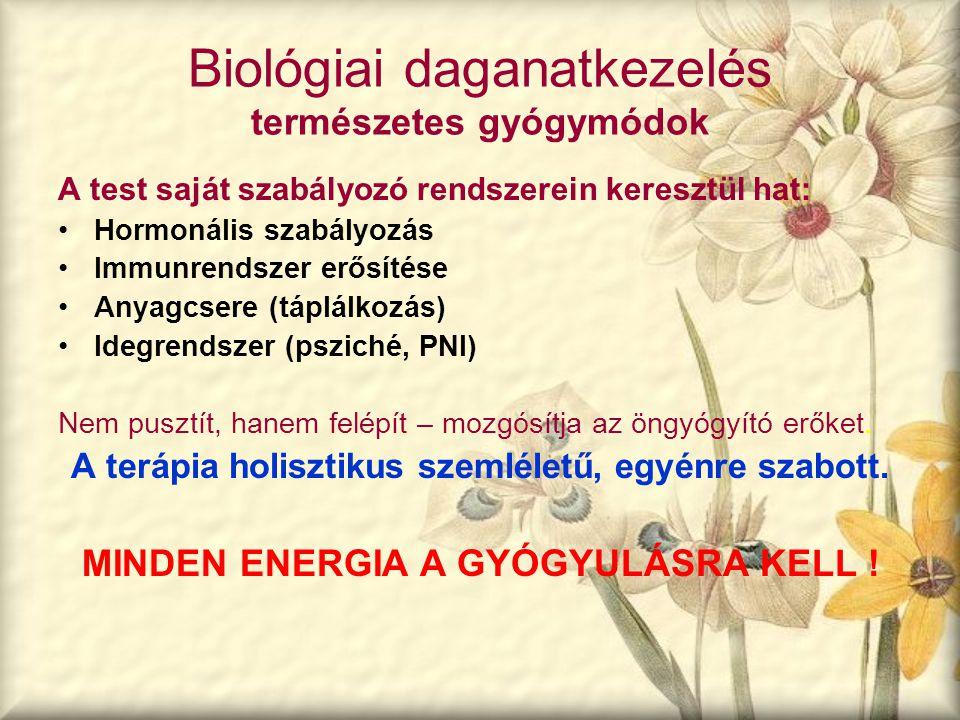 Biológiai daganatkezelés természetes gyógymódok