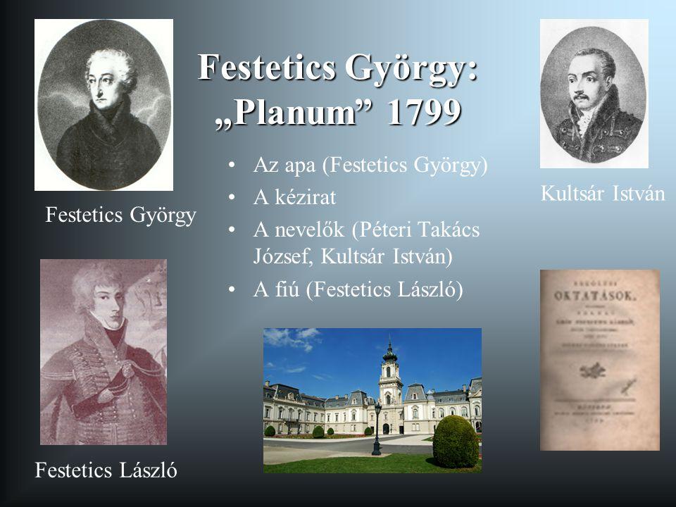 """Festetics György: """"Planum 1799"""