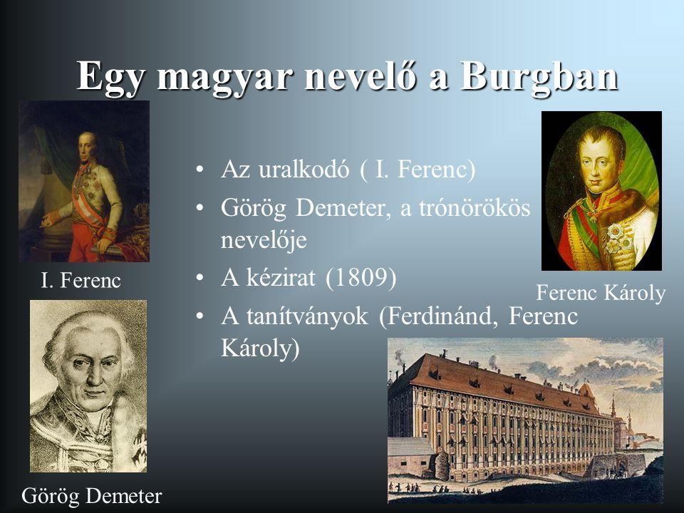 Egy magyar nevelő a Burgban