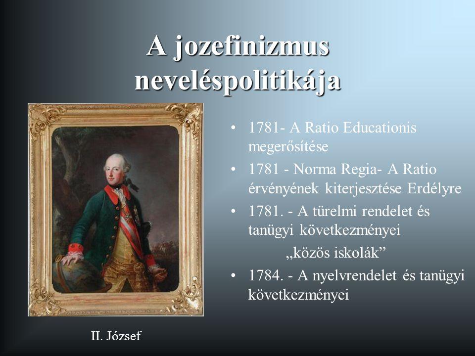 A jozefinizmus neveléspolitikája