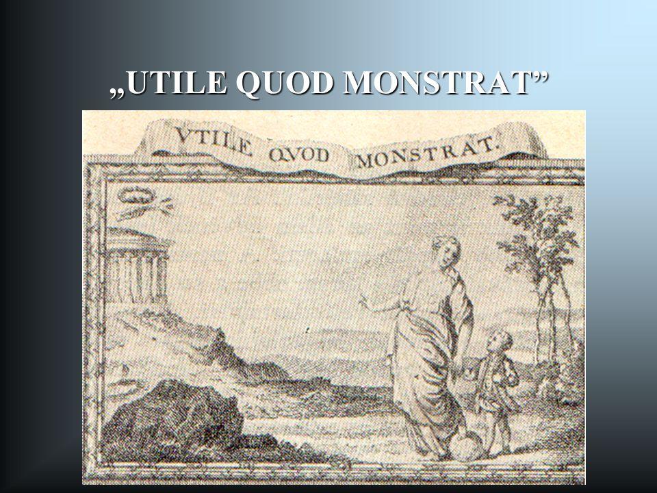 """""""UTILE QUOD MONSTRAT A kép az 1777-es Ratio Educationis egyik illusztrációja: allegória. A felvilágosodás nevelési eszméinek jelképeit tartalmazza."""