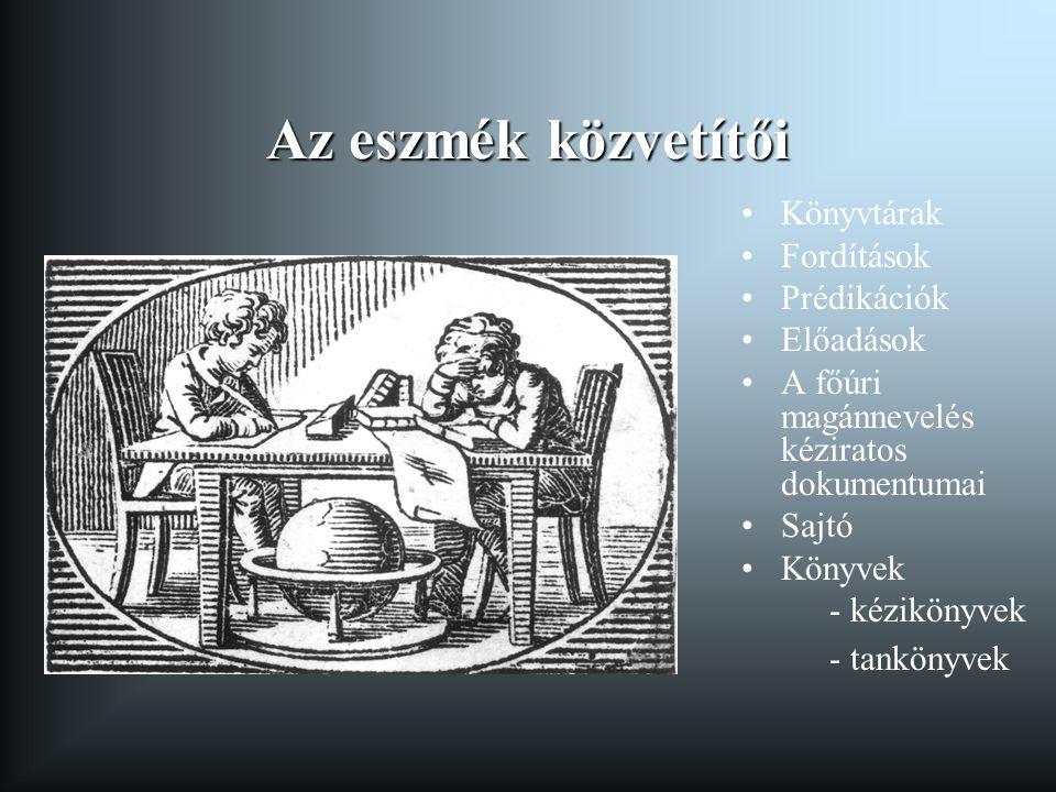 Az eszmék közvetítői Könyvtárak Fordítások Prédikációk Előadások