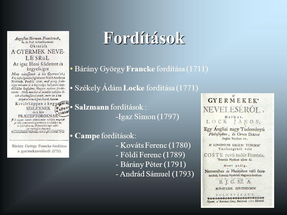 Fordítások Bárány György Francke fordítása (1711)