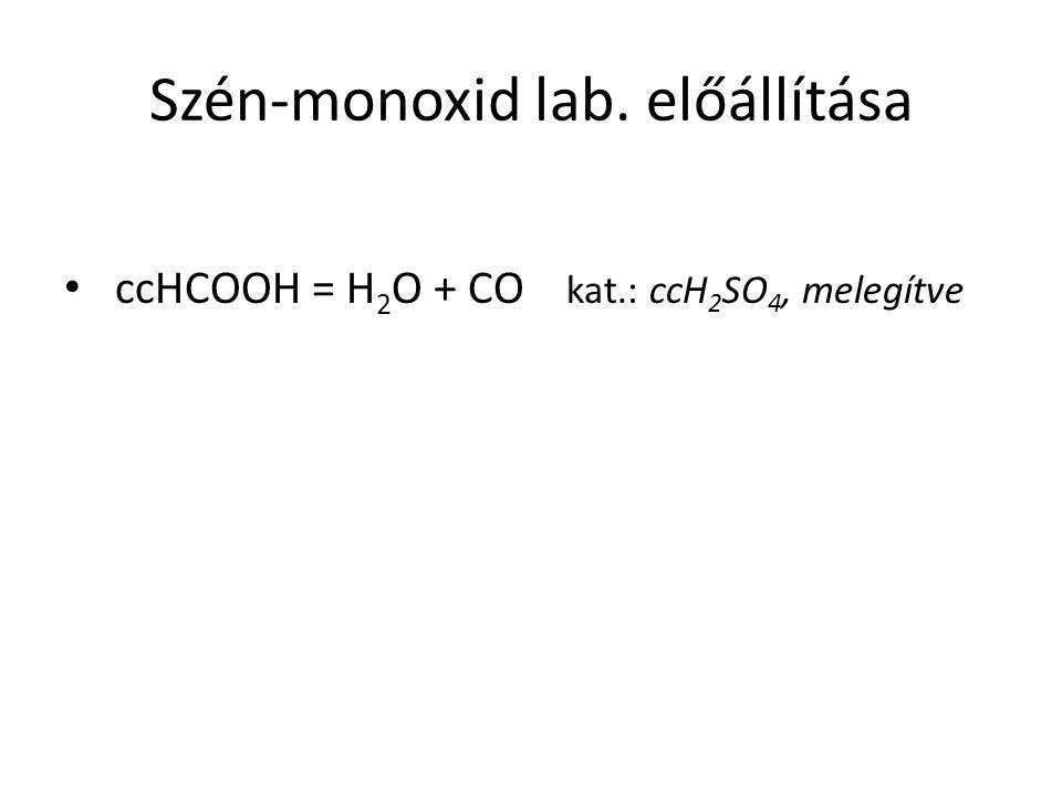 Szén-monoxid lab. előállítása