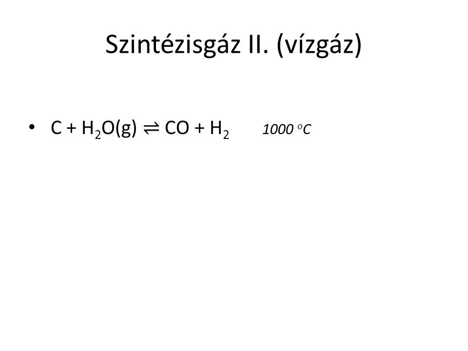 Szintézisgáz II. (vízgáz)