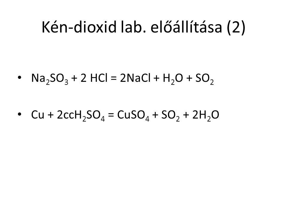 Kén-dioxid lab. előállítása (2)