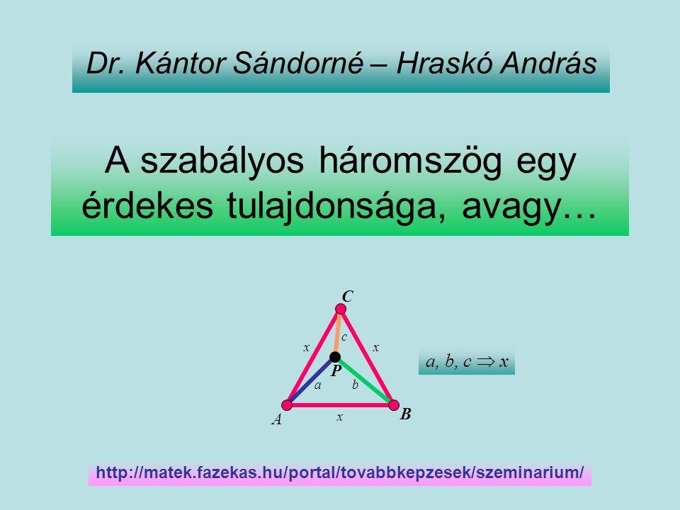 A szabályos háromszög egy érdekes tulajdonsága, avagy…