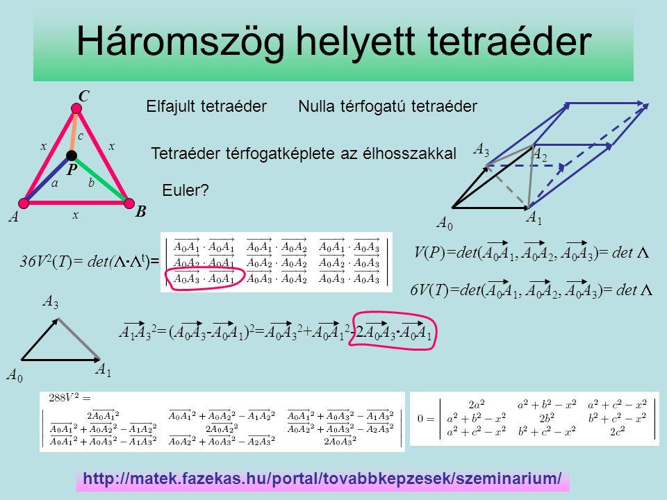 Háromszög helyett tetraéder
