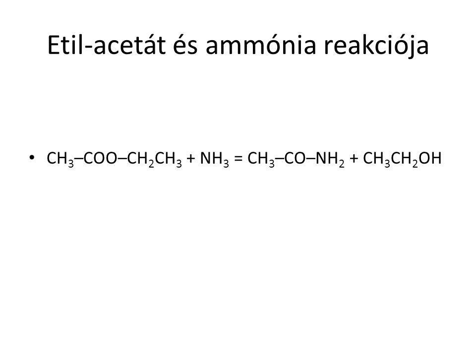 Etil-acetát és ammónia reakciója