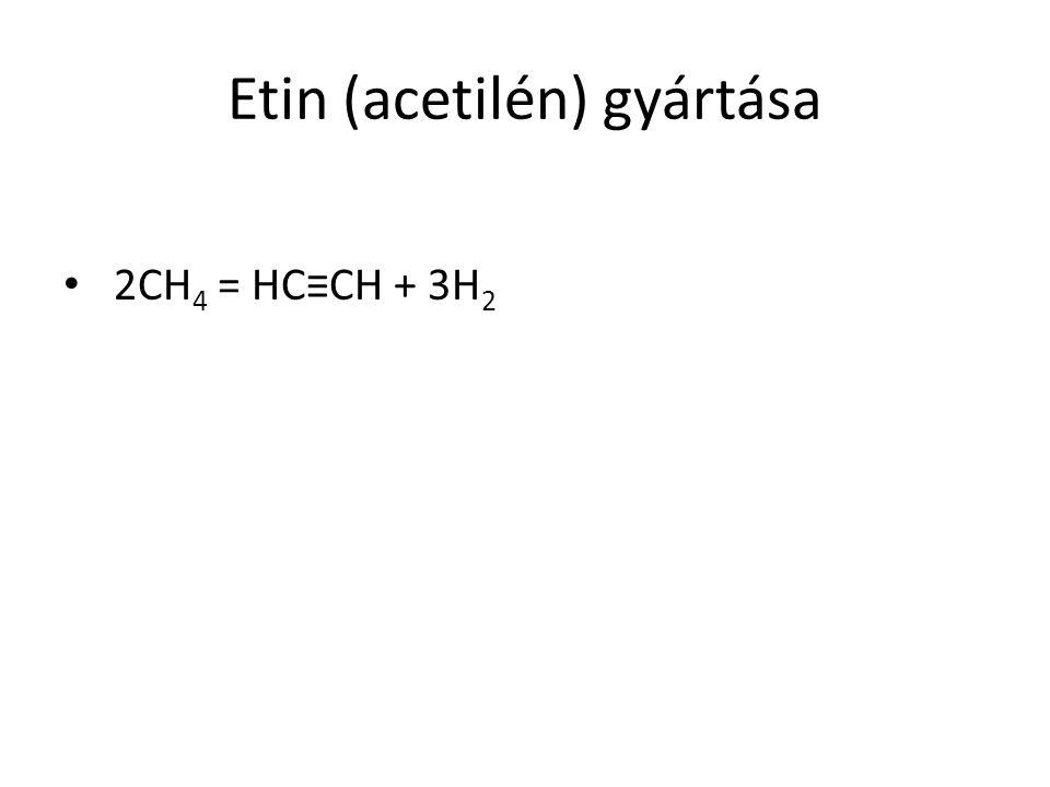 Etin (acetilén) gyártása