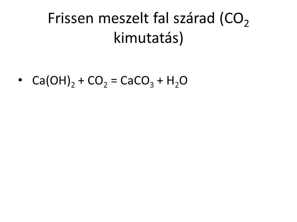 Frissen meszelt fal szárad (CO2 kimutatás)