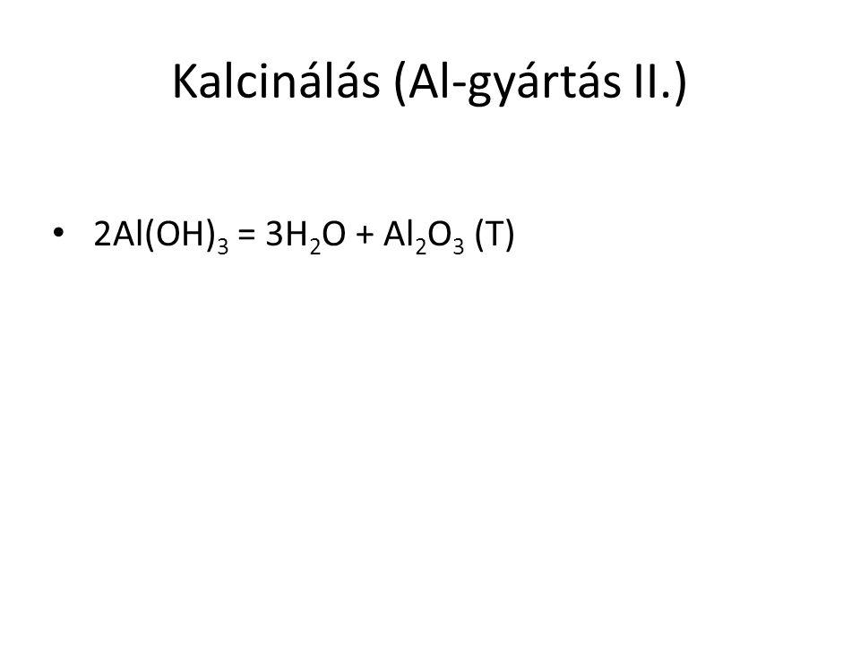 Kalcinálás (Al-gyártás II.)