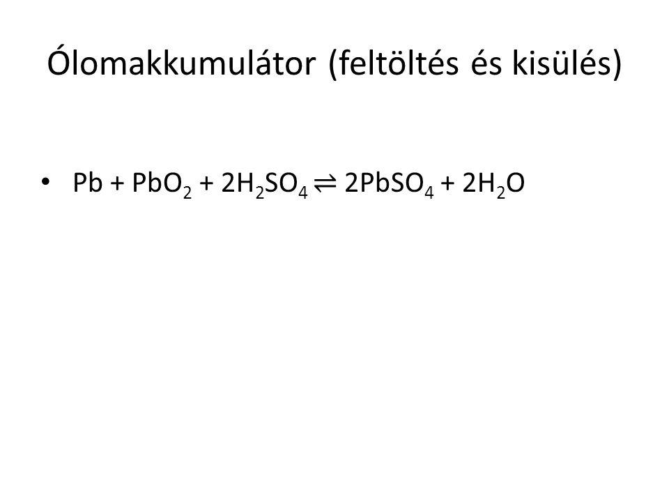 Ólomakkumulátor (feltöltés és kisülés)