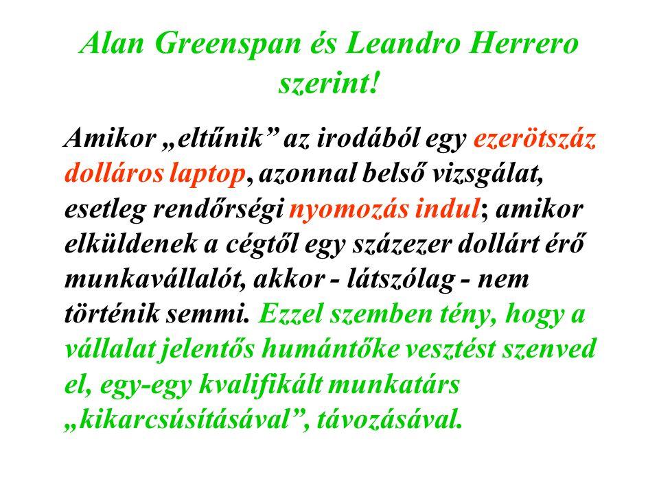 Alan Greenspan és Leandro Herrero szerint!