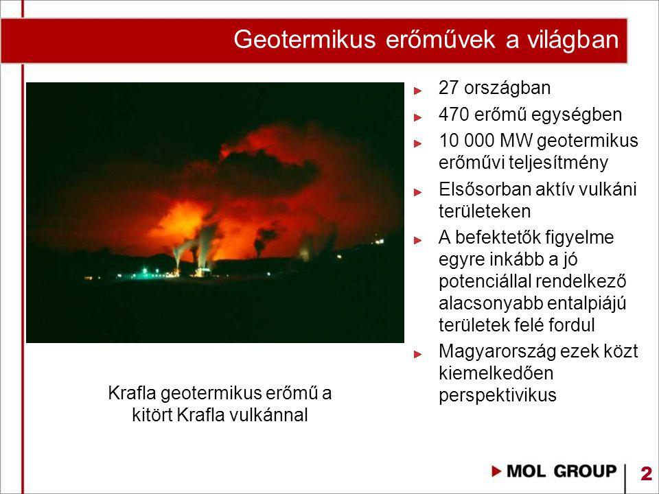 Geotermikus erőművek a világban