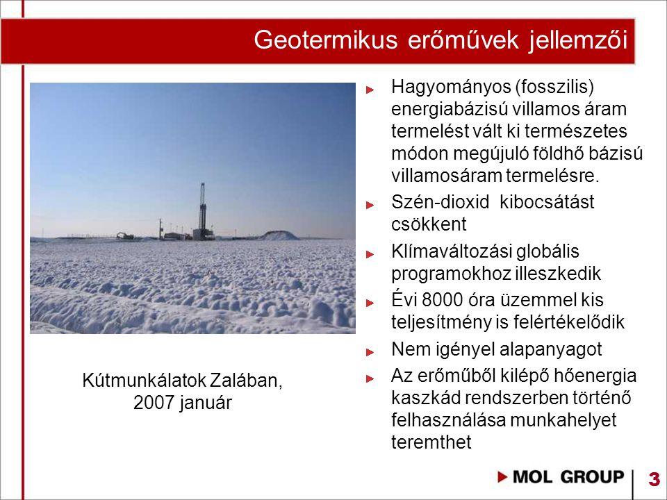 Geotermikus erőművek jellemzői