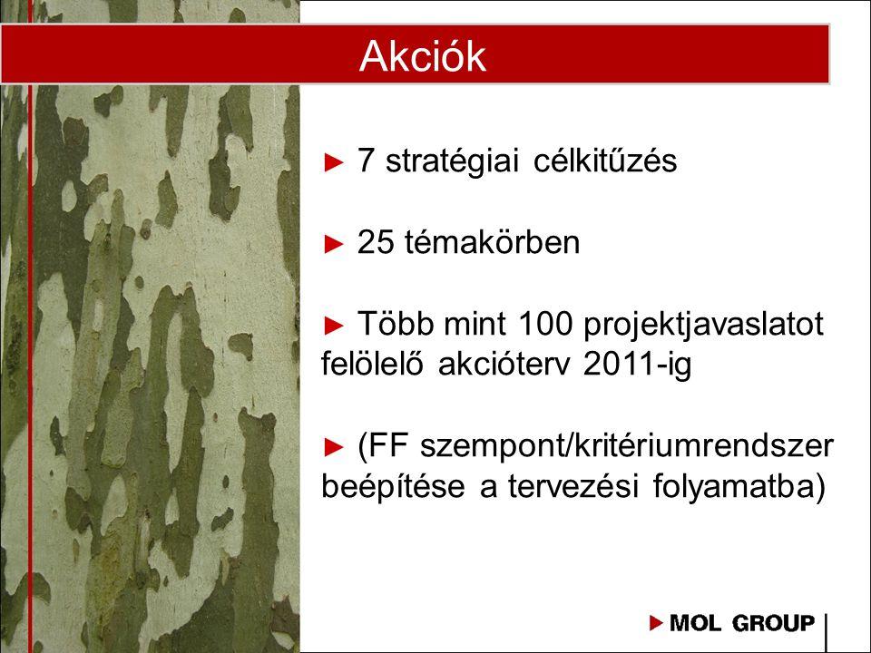 Akciók 7 stratégiai célkitűzés 25 témakörben