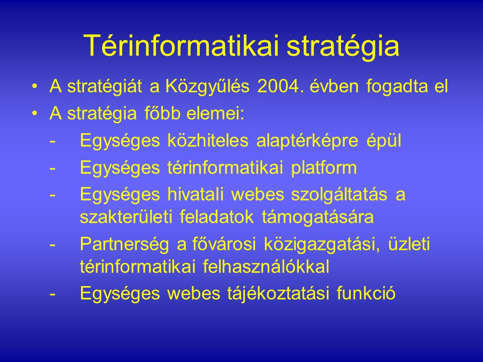 Térinformatikai stratégia