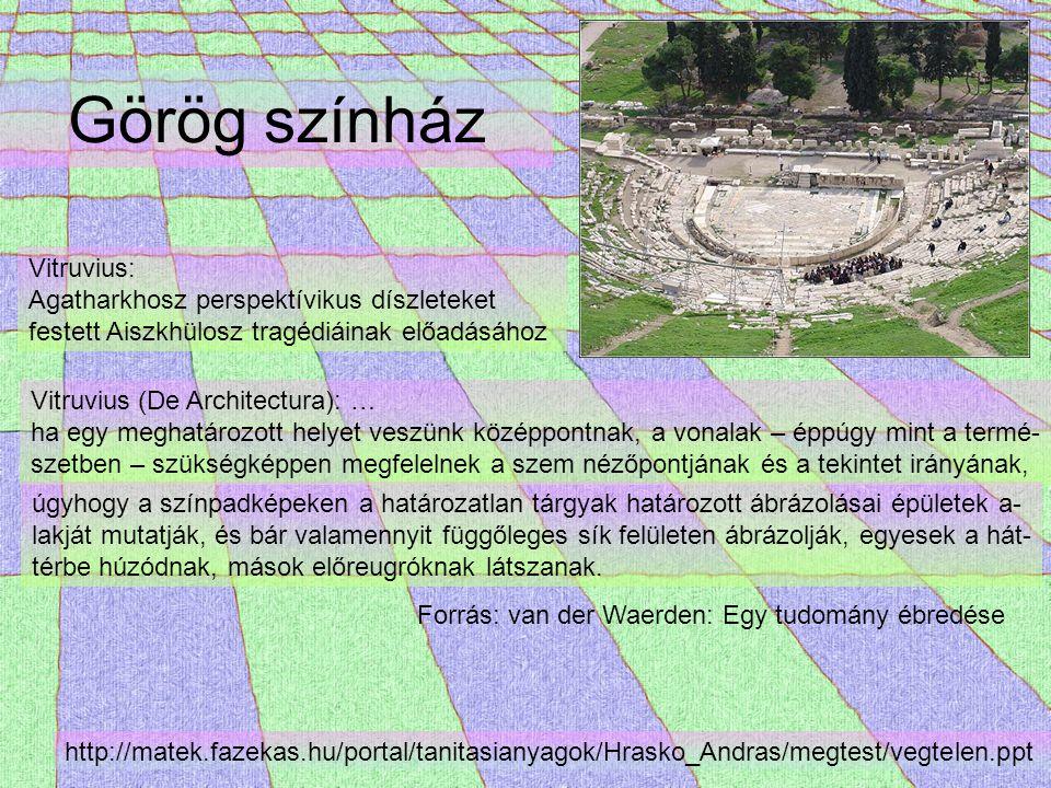 Görög színház Vitruvius: