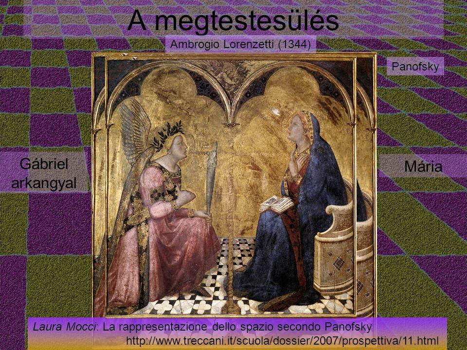 A megtestesülés Gábriel arkangyal Mária Ambrogio Lorenzetti (1344)