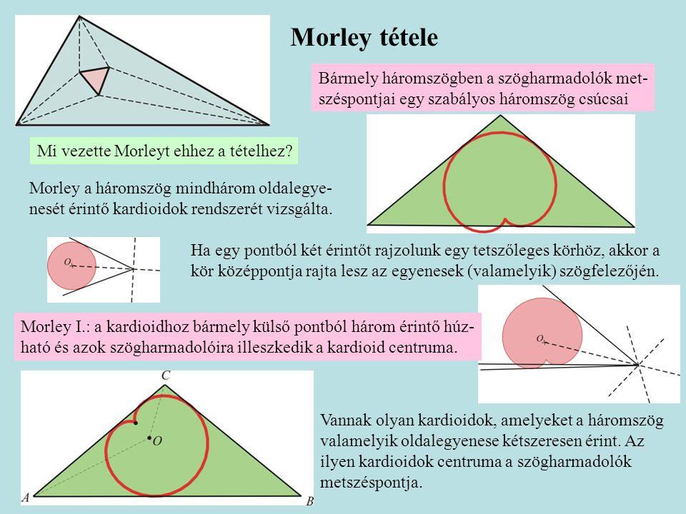 Morley tétele Bármely háromszögben a szögharmadolók met-