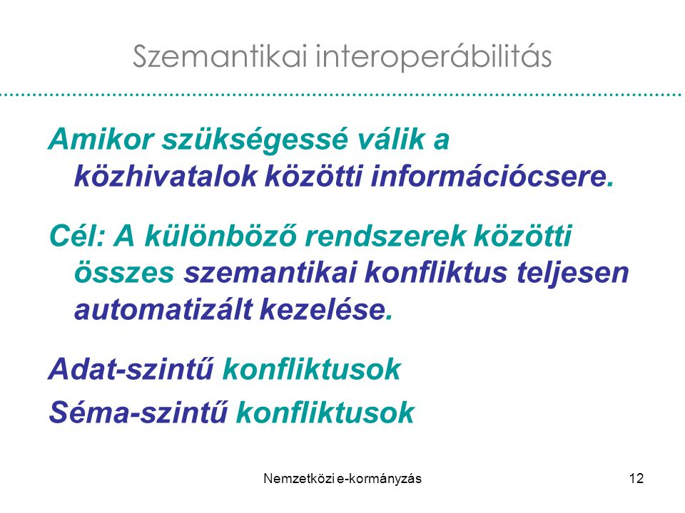 Szemantikai interoperábilitás