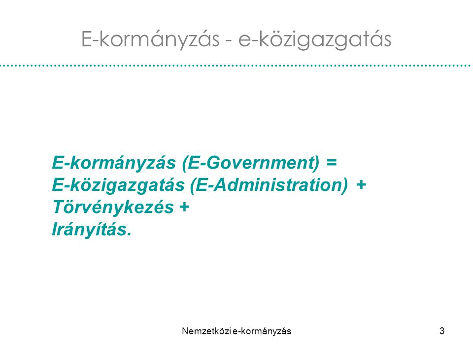 E-kormányzás - e-közigazgatás