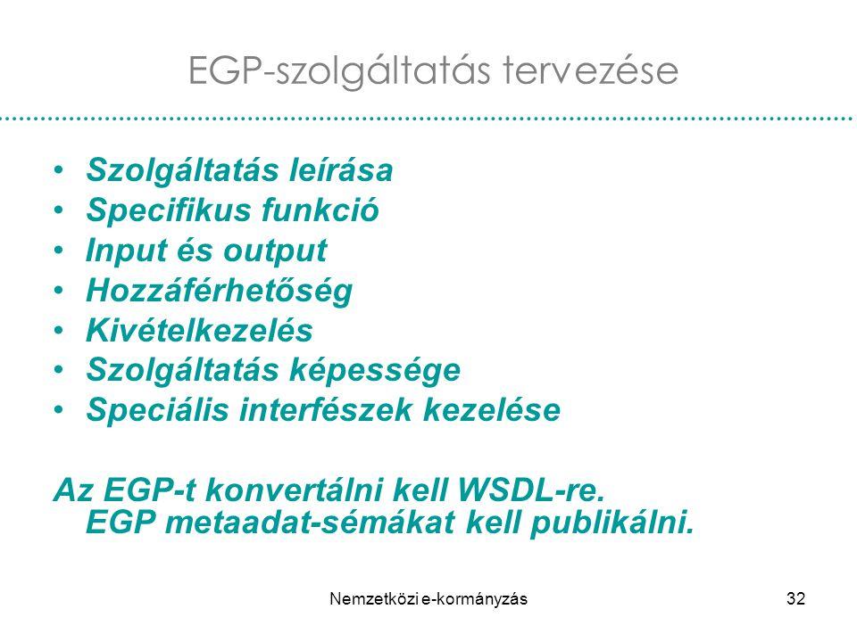 EGP-szolgáltatás tervezése