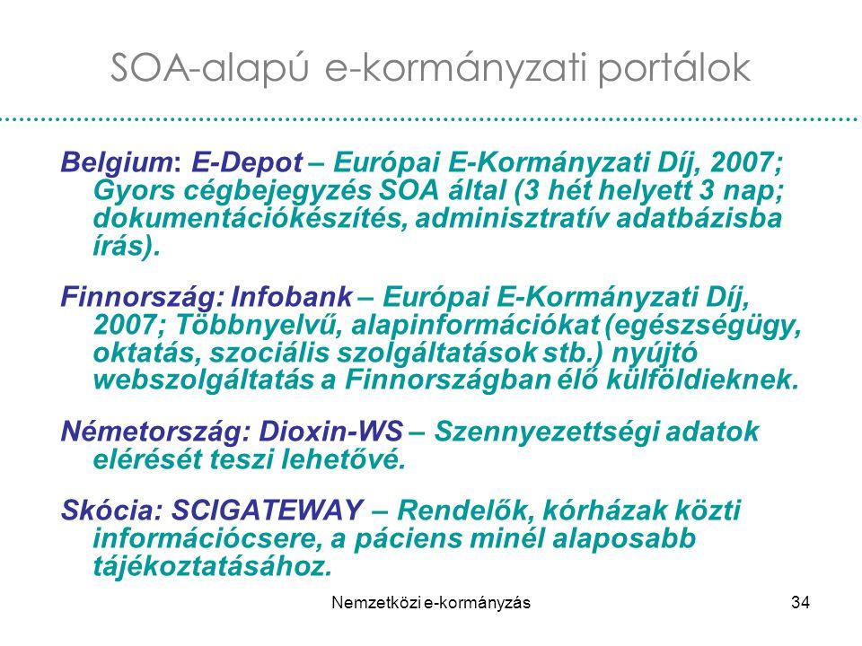 SOA-alapú e-kormányzati portálok