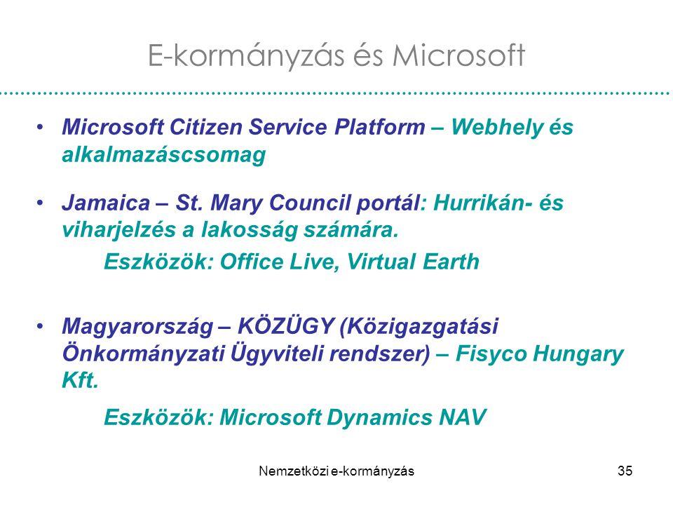 E-kormányzás és Microsoft