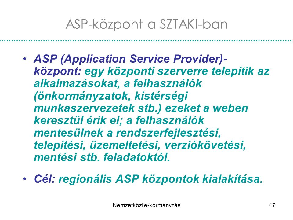 ASP-központ a SZTAKI-ban