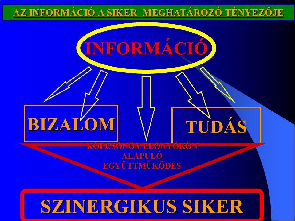 SZINERGIKUS SIKER INFORMÁCIÓ BIZALOM TUDÁS