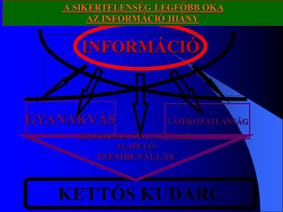 KETTŐS KUDARC INFORMÁCIÓ GYANAKVÁS