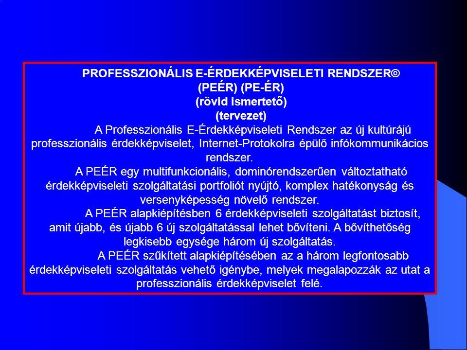 PROFESSZIONÁLIS E-ÉRDEKKÉPVISELETI RENDSZER©