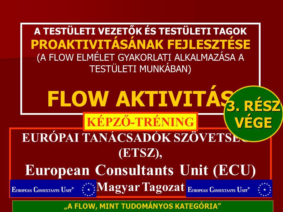 FLOW AKTIVITÁS European Consultants Unit (ECU) 3. RÉSZ VÉGE