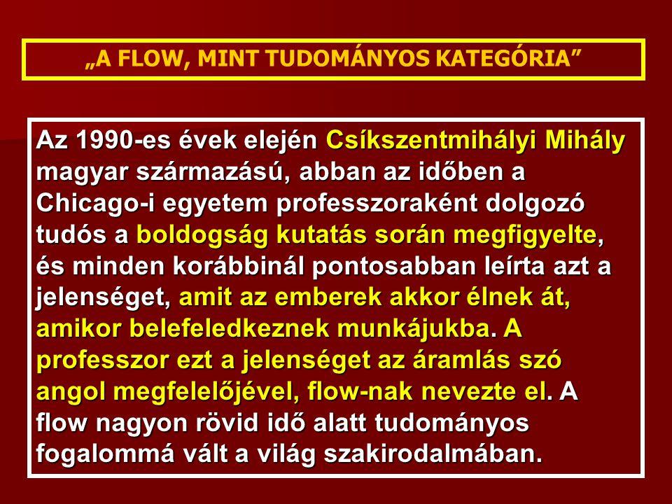 """""""A FLOW, MINT TUDOMÁNYOS KATEGÓRIA"""