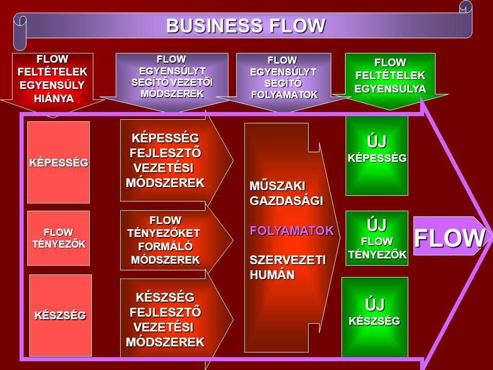 FLOW BUSINESS FLOW ÚJ ÚJ FLOW TÉNYEZŐK ÚJ