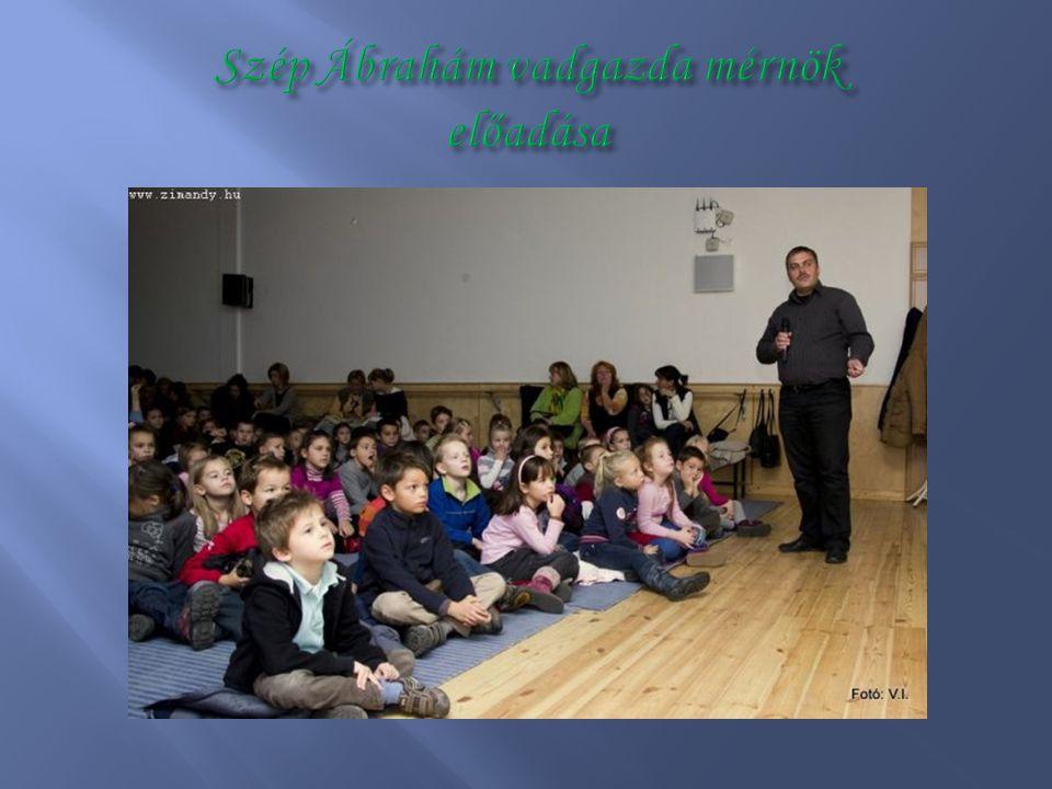 Szép Ábrahám vadgazda mérnök előadása