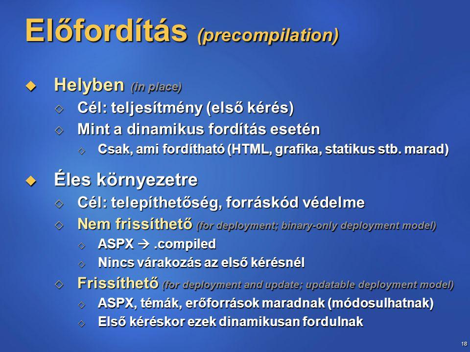 Előfordítás (precompilation)