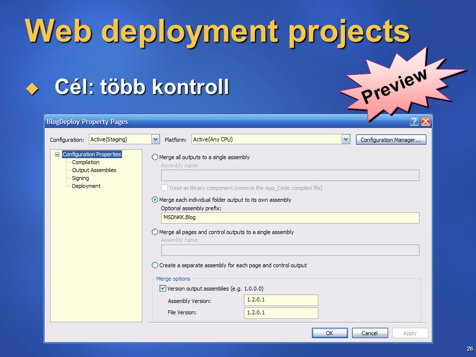 Web deployment projects
