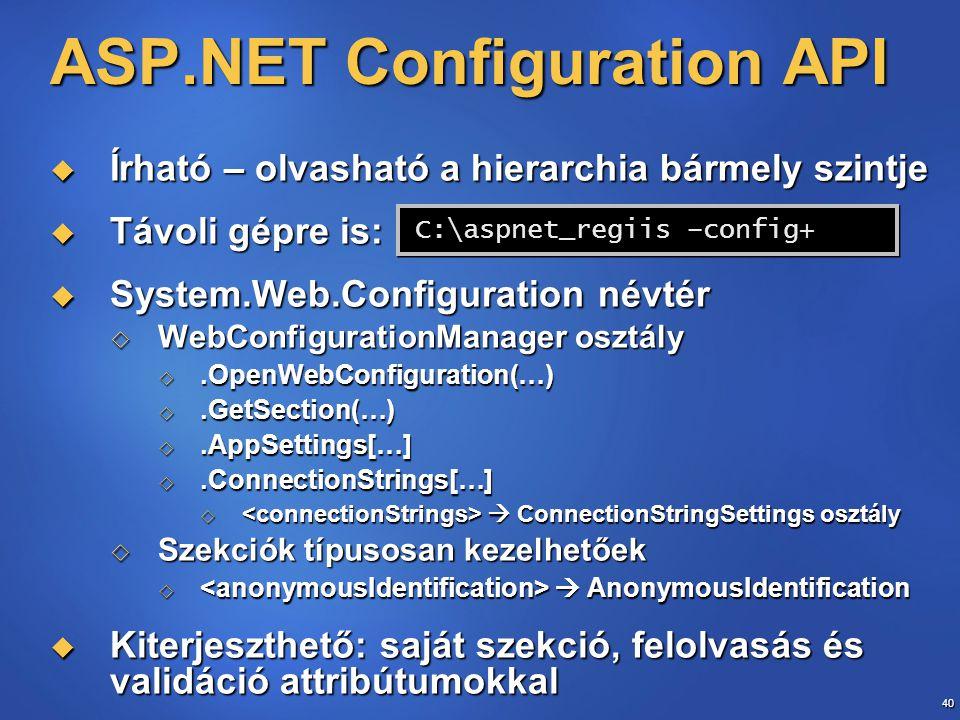ASP.NET Configuration API