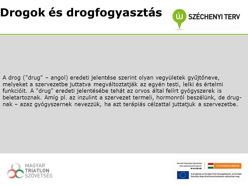 Drogok és drogfogyasztás
