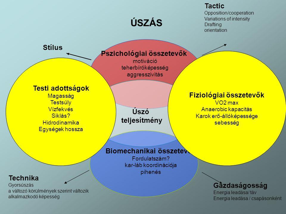 Fiziológiai összetevők Biomechanikai összetevők
